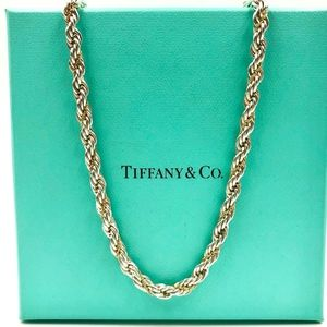 Tiffany 18 in sterling and yellow gold rope chain